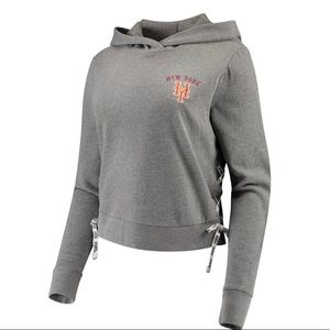 PINK Victoria's Secret NY Mets Lace Up Side Hoodie